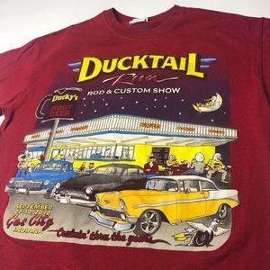 Hot Rod Car Show T-Shirt 2012 Ducktail Run Tee USA